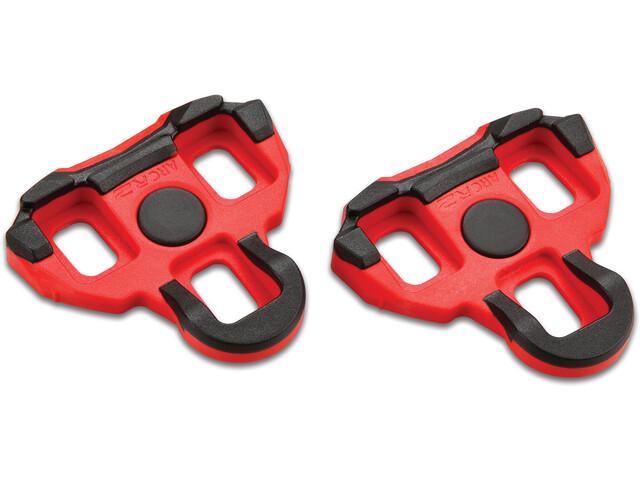 Garmin Vector Ersatz Schuhplatten red